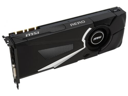 Видеокарта GeForce MSI GeForce GTX 1080 1632Mhz PCI-E 3.0 8192Mb 10010Mhz 256 bit DVI HDMI HDCP, вид 3