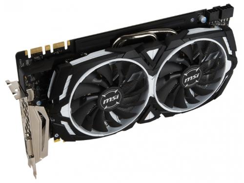 Видеокарта GeForce MSI GeForce GTX 1080 1657Mhz PCI-E 3.0 8192Mb 10010Mhz 256 bit DVI HDMI HDCP, вид 3