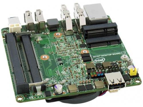 Материнская плата Intel NUC BLKD33217GKE-924221 (UCFF, Core i3-3217U, Intel QS77, 2x DDR3), OEM, вид 2