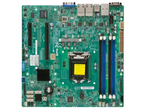 Материнская плата Supermicro MBD-X10SLM+-F-O (Intel C224/1xLGA1150/4xDDR3 DIMM/microATX/USB 3.0), вид 1