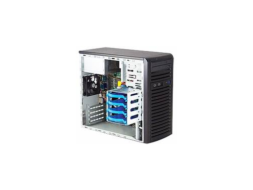 Корпус SUPERMICRO,TOWER 300W MATX(CSE-731I-300B)черный, вид 2