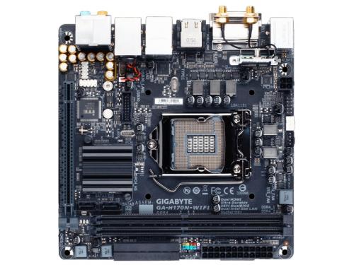 ����������� ����� Gygabyte GA-H170N-WIFI (rev. 1.0) (DDR4, MITX, Sata3, LAN-Gbt, USB3.1 DVi/DP/HDMI), ��� 2