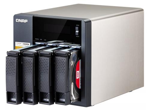 Сетевой накопитель QNAP TS-453A-4G (настольный, для 4 дисков), вид 3