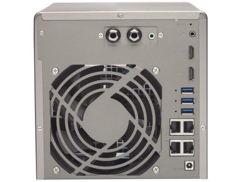 Сетевой накопитель QNAP TS-453A-4G (настольный, для 4 дисков), вид 4