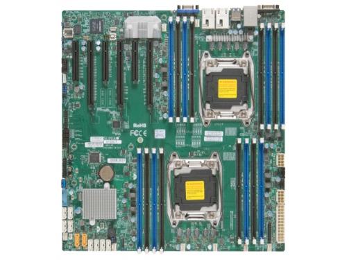 Материнская плата SuperMicro MBD-X10DRI-O серверная, вид 1