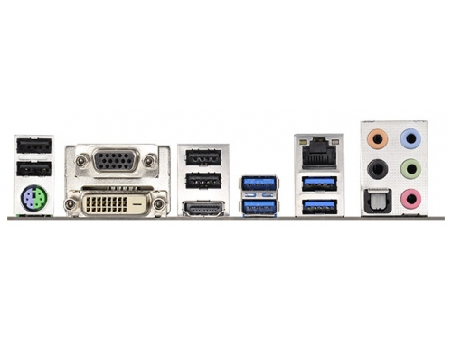 Материнская плата ASRock H97M (Soc-1150/H97/4xDDRIII/mATX/SATA3/LAN-Gbt +RaiD/USB3.0), вид 3