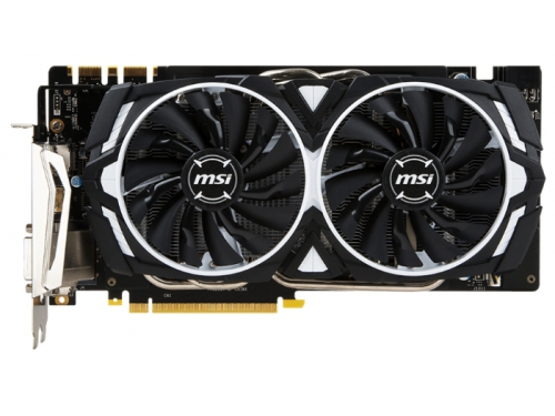 ���������� GeForce MSI GeForce GTX 1070 1556Mhz PCI-E 3.0 8192Mb 8008Mhz 256 bit DVI HDMI HDCP, ARMOR 8G OC, ��� 1