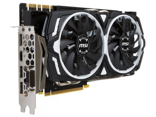 ���������� GeForce MSI GeForce GTX 1070 1556Mhz PCI-E 3.0 8192Mb 8008Mhz 256 bit DVI HDMI HDCP, ARMOR 8G OC, ��� 2