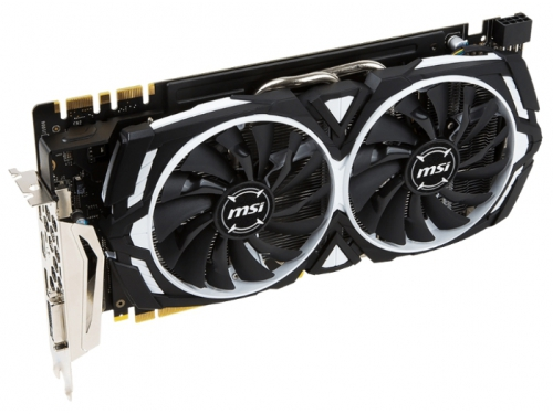 ���������� GeForce MSI GeForce GTX 1070 1556Mhz PCI-E 3.0 8192Mb 8008Mhz 256 bit DVI HDMI HDCP, ARMOR 8G OC, ��� 3