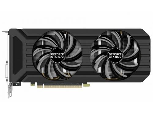 Видеокарта GeForce Palit GeForce GTX 1070 1506Mhz PCI-E 3.0 8192Mb 8000Mhz 256 bit DVI HDMI HDCP (PA-GTX1070 Dual 8G), вид 1