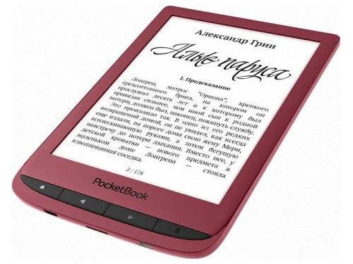 Электронная книга PocketBook 628 красная, вид 2