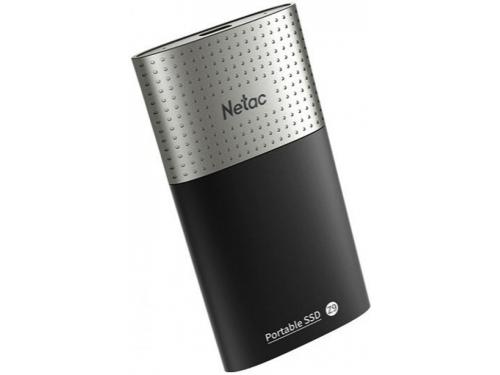 Внешний SSD-накопитель Netac Z9 NT01Z9-250G-32BK, черно-серебристый, вид 1