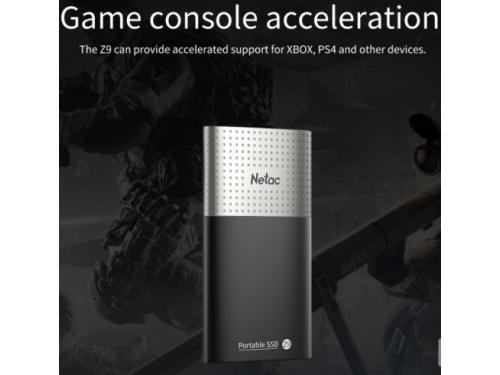 Внешний SSD-накопитель Netac Z9 NT01Z9-250G-32BK, черно-серебристый, вид 2
