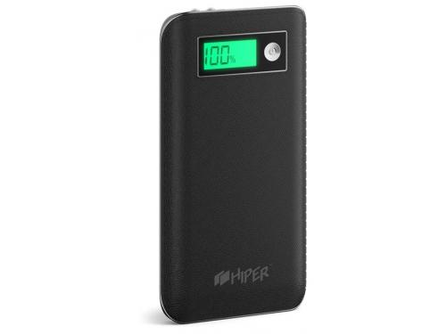Аксессуар для телефона Hiper XPX6500, аккумуляор, 6500 мАч, 2.4 А, USB, черный, вид 1