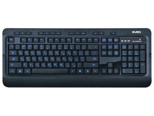 Клавиатура Sven Comfort 7600 EL USB, черная, вид 2