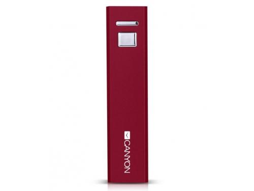 Аксессуар для телефона Мобильный аккумулятор Canyon CNE-CSPB26R, 2600 mAh, красный, вид 2