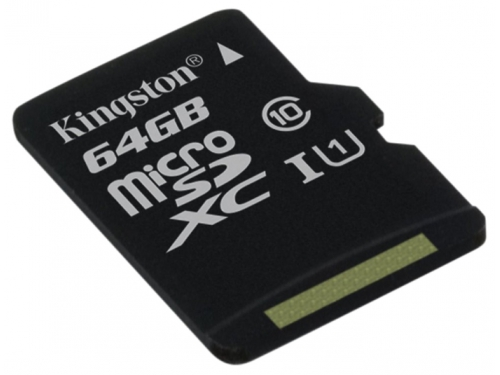 Карта памяти Kingston SDC10G2/64GBSP (64Gb, class10, 45MB/s), вид 1
