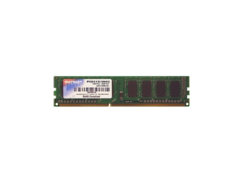 Модуль памяти Patriot Memory PSD32G13332 (DDR3, 1x2Gb, 1333MHz, CL9, DIMM), вид 1