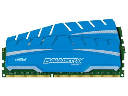Модуль памяти Crucial BLS2C4G3D18ADS3CEU (DDR3, 2x4Gb, 1866MHz, CL10, DIMM), вид 1
