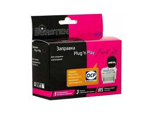 Картридж набор BURSTEN Plug-n-Print к картриджам Canon CLI8Y на 3 заправки, вид 1