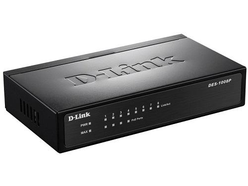 Коммутатор (switch) D-Link DES-1008P/C1A, вид 1