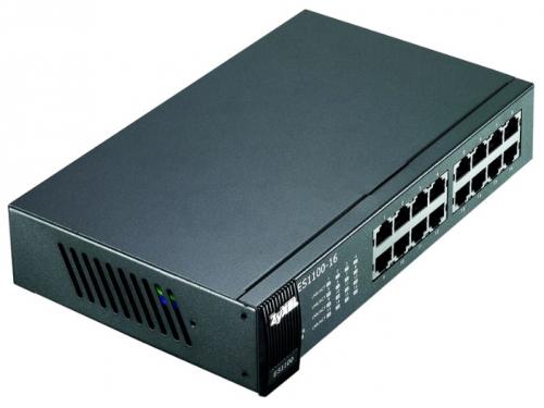 Коммутатор (switch) ZyXEL ES1100-16 (неуправляемый), вид 2