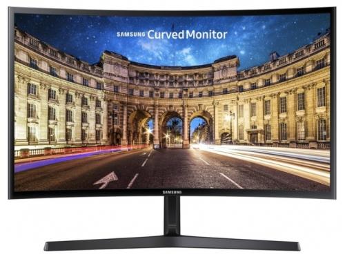 Монитор Samsung C24F396FHI, черный, вид 1