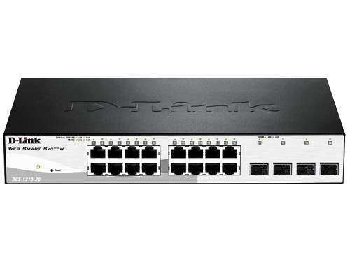 Коммутатор (switch) D-Link DGS-1210-20/C1A, вид 1