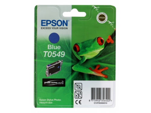 Картридж Epson T0549 голубой, вид 1