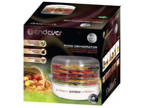 Сушилка для овощей и фруктов Endever Skyline FD-56, белая, вид 2