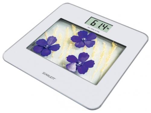 Напольные весы Scarlett SC-BS33E002, фиолетовые цветы, вид 1