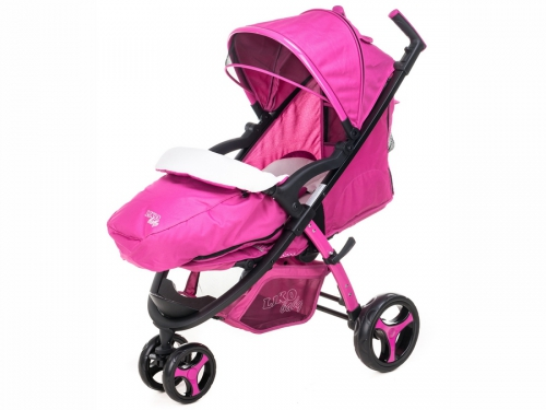 Коляска Liko Baby BT-1218, розовая, вид 1