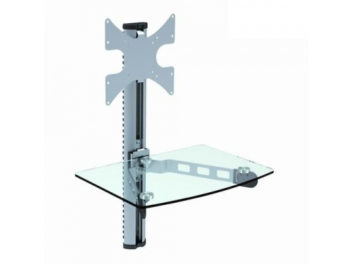 Кронштейн Brateck DVD-14C (23-42'', до 30 кг), серебристый, вид 1