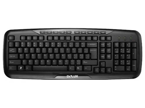 Клавиатура Delux K6200U USB, черная, вид 1