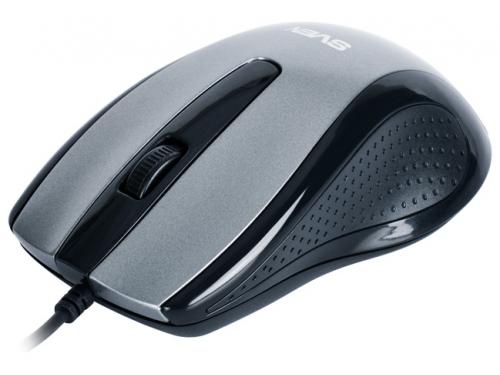 Мышка Sven RX-515 Silent USB, серая, вид 1