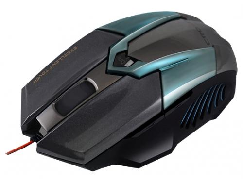 Мышка Crown CMXG-606 USB, циан, вид 2