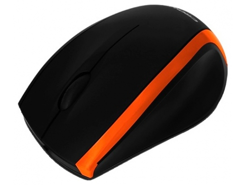 Мышка Crown CMM-009, черно-оранжевая, вид 1