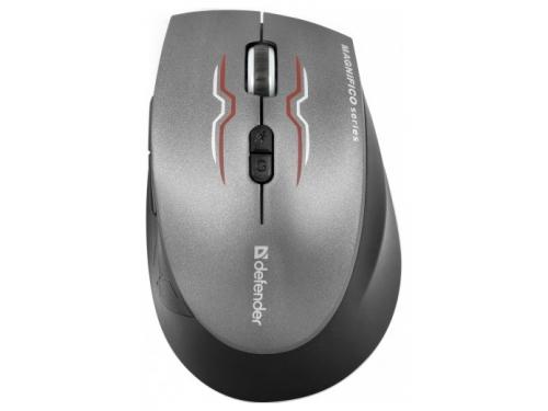 Мышка Defender Magnifico MM-555 Nano, серая, вид 2