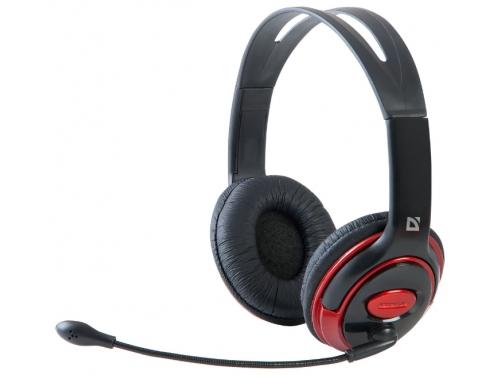 Гарнитура для ПК Defender Phoenix 875, черно-красная, вид 3