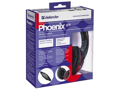 Гарнитура для ПК Defender Phoenix 875, черно-красная, вид 5