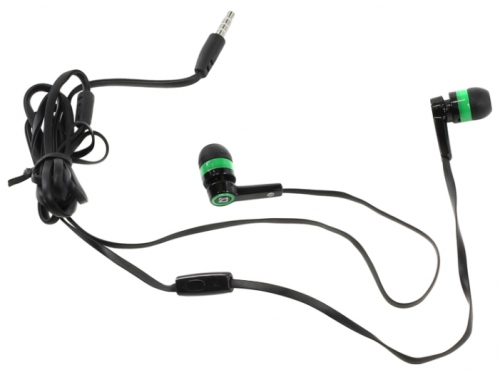 Гарнитура для телефона Defender Pulse-420, черно-зеленая, вид 1