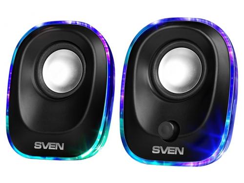 Компьютерная акустика Sven 330 2.0, черная 5Вт портативная, вид 1