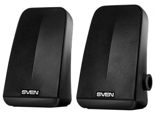 Компьютерная акустика Sven 380 2.0, черная 6Вт портативная, вид 1