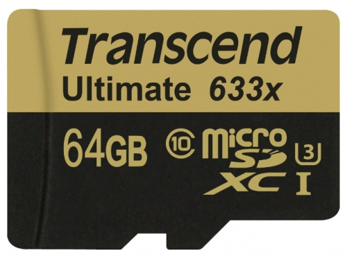 Карта памяти Transcend MicroSDXC 64Gb class10  UHS-1, вид 1