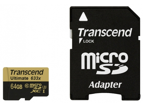 Карта памяти Transcend MicroSDXC 64Gb class10  UHS-1, вид 2