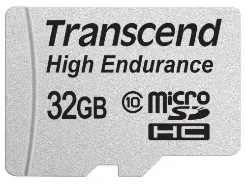 ����� ������ Transcend  MicroSDHC 32Gb class10 UHS-1 High Endurance R/W 21/20 MB/s, ��� 1