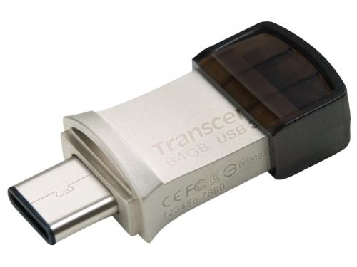 Usb-флешка Transcend JetFlash 890S 64GB (3.1, OTG), вид 1