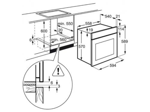 Духовой шкаф Electrolux OPEB4330V белый, вид 2