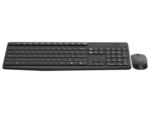 Комплект Logitech MK235 Wireless Keyboard and Mouse, черный, вид 1