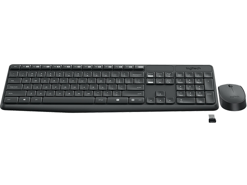Комплект Logitech MK235 Wireless Keyboard and Mouse, черный, вид 2